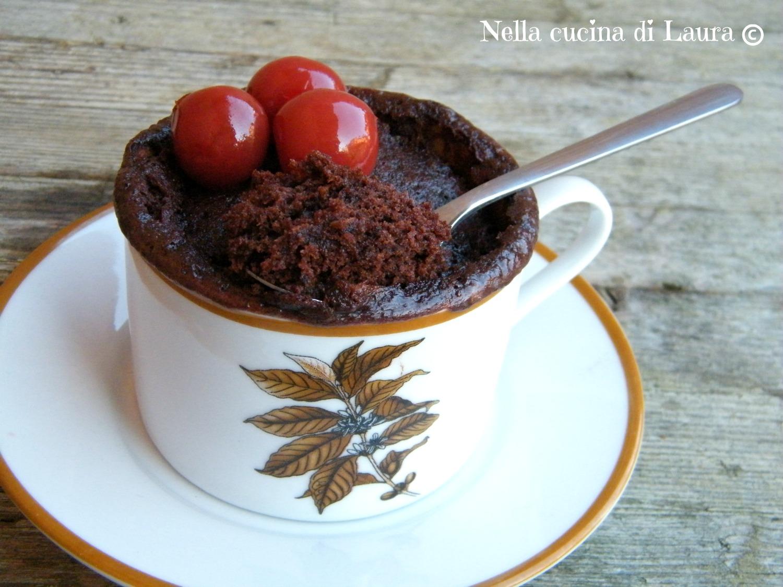 mug cake alla nutella - torta in tazza - nella cucina di laura