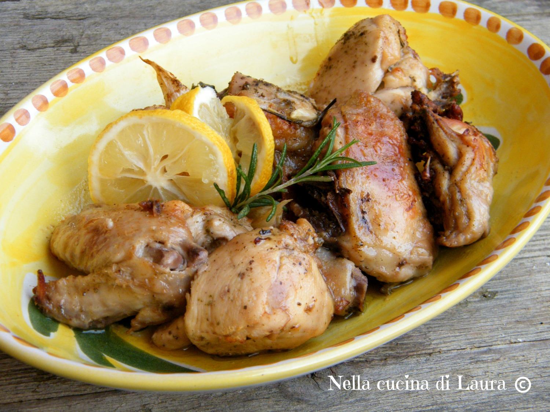 pollo arrosto al limone - nella cucina di laura