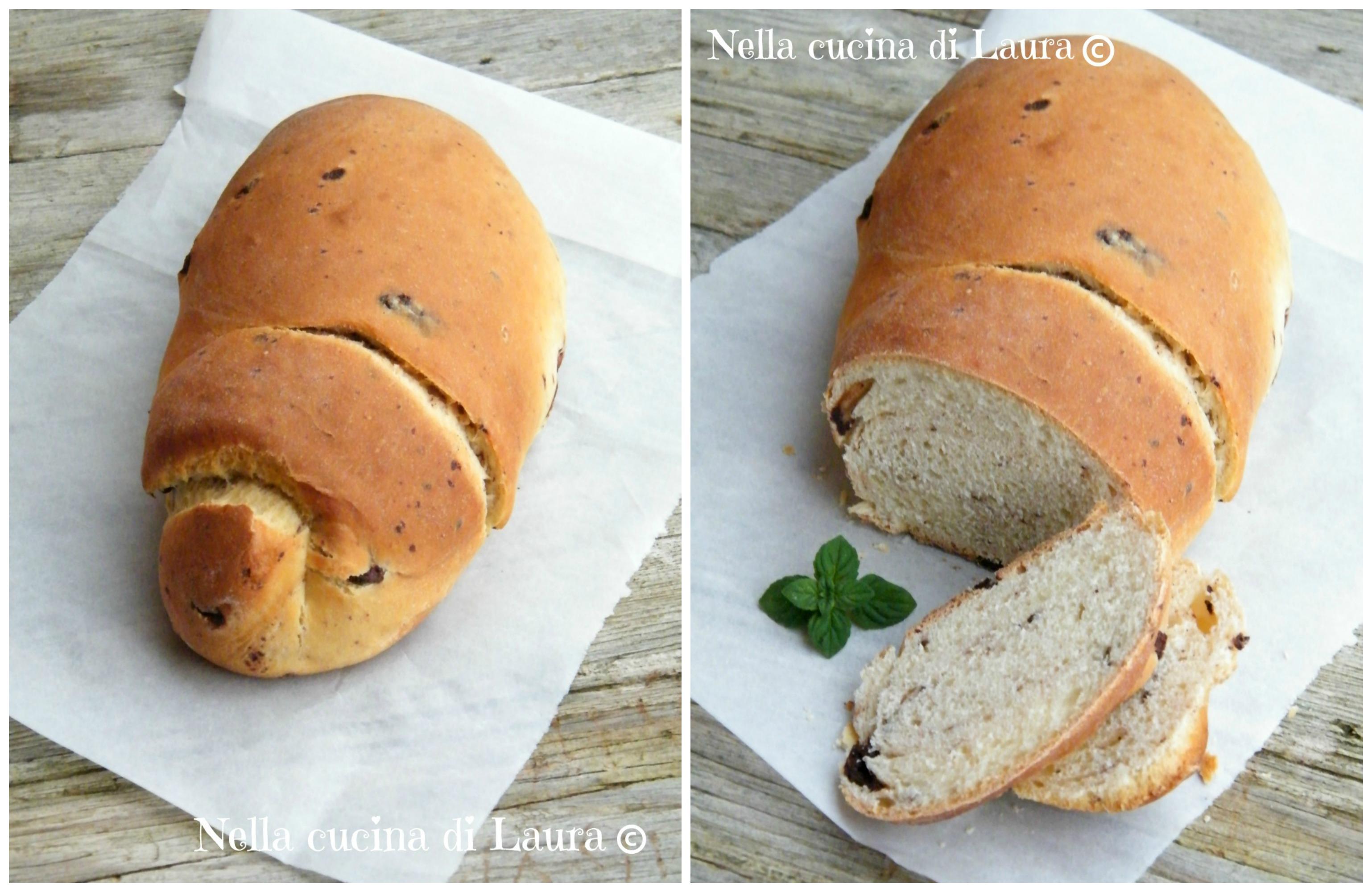 pane dolce di pan brioche con scaglie di cioccolato - nella cucina di laura