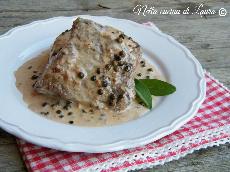 filetto al pepe verde - nella cucina di laura