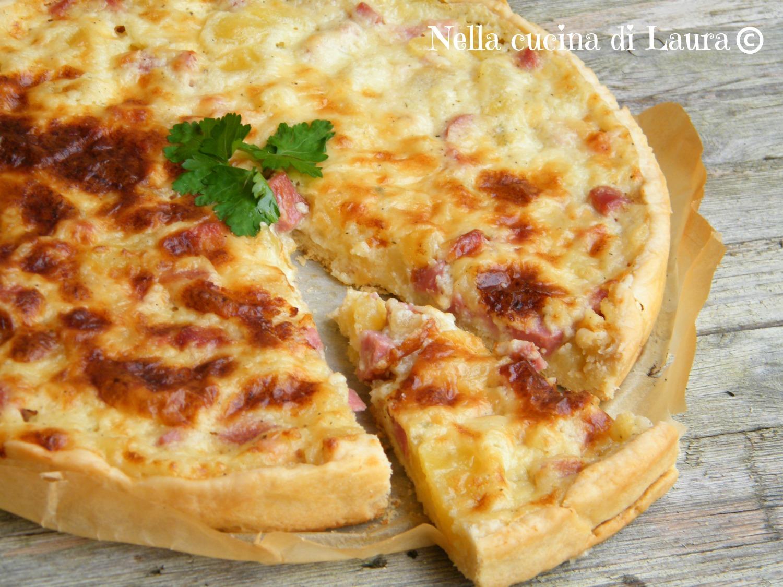 torta salata con patate e prosciutto cotto - nella cucina di laura