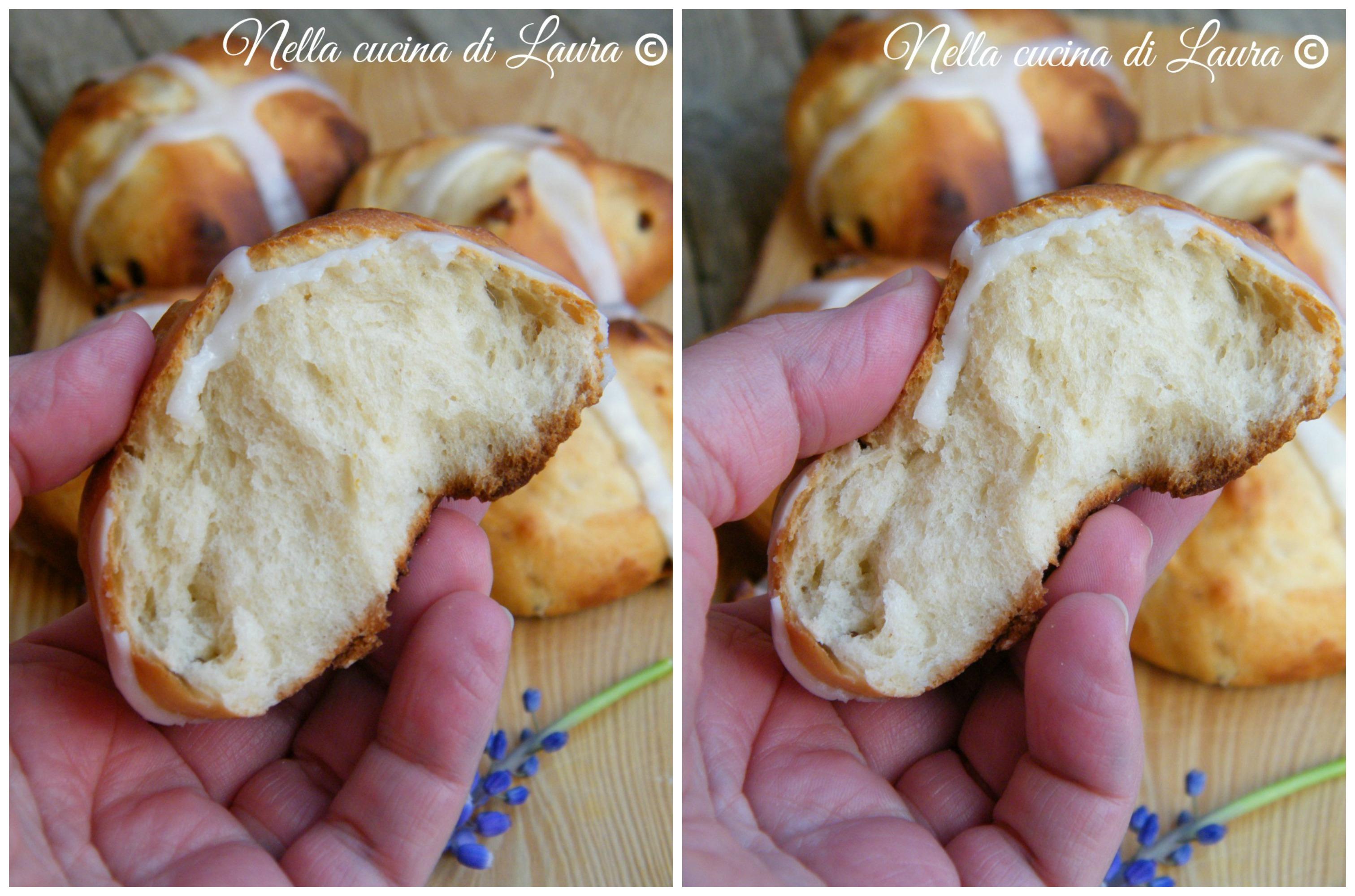 Hot Cross Bung, panini dolci inglesi tipici pasquali - nella cucina di laura