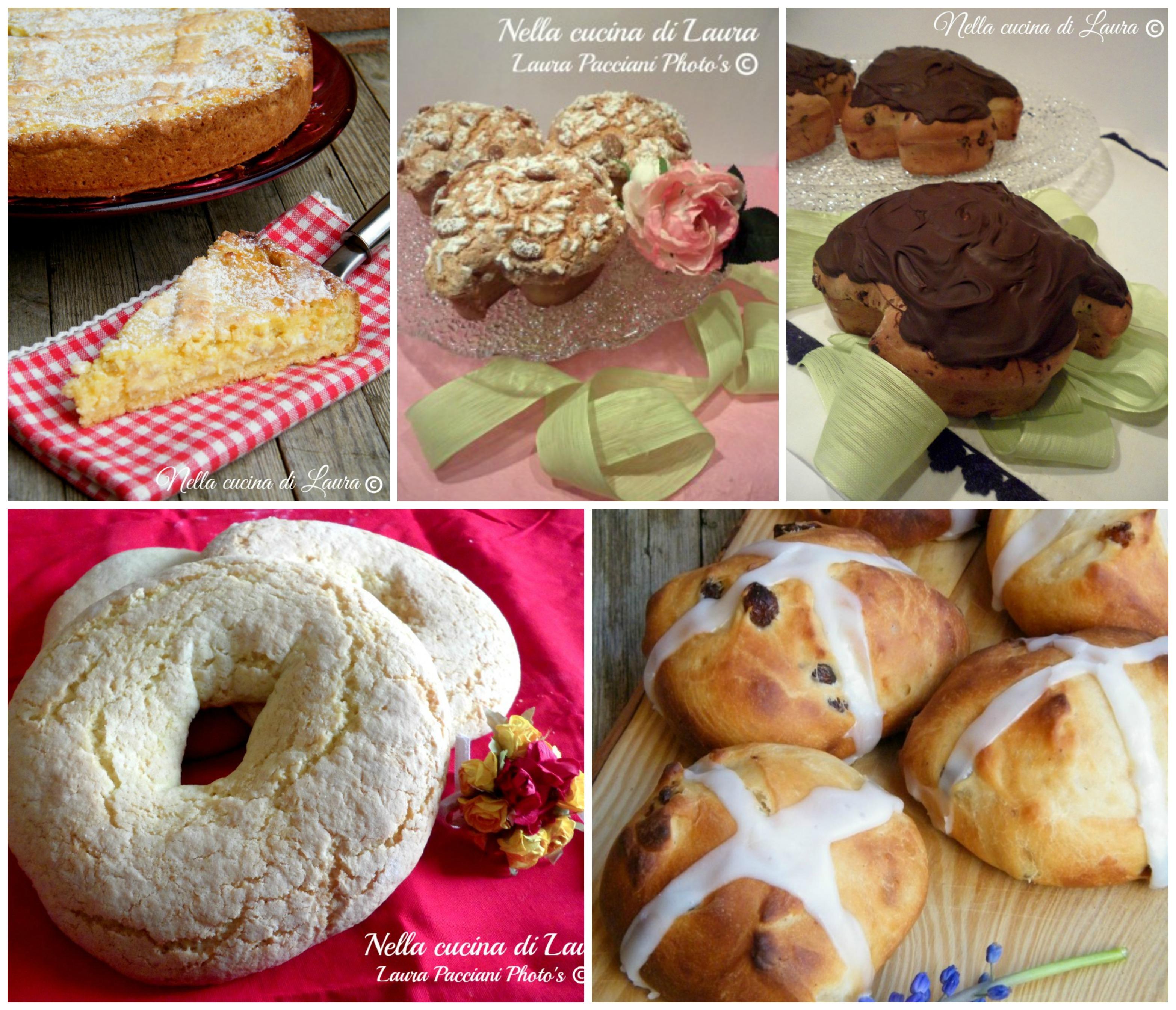rustici e dolci per il menu' di Pasqua - nella cucina di laura