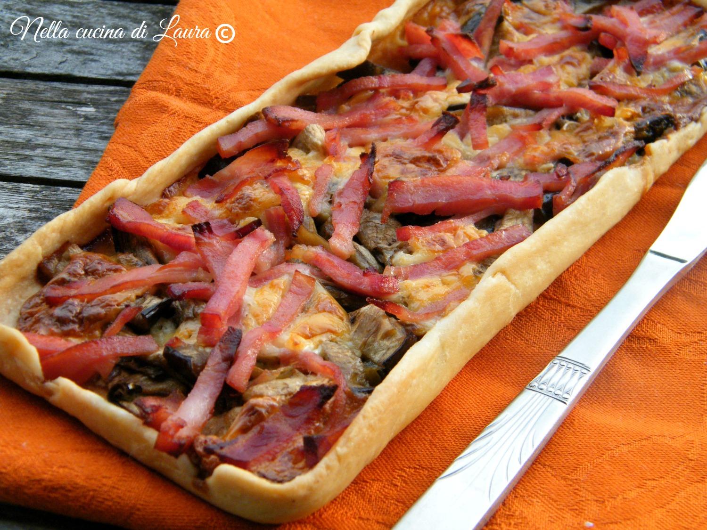 torta salata con melanzane grigliate e prosciutto cotto - nella cucina di laura