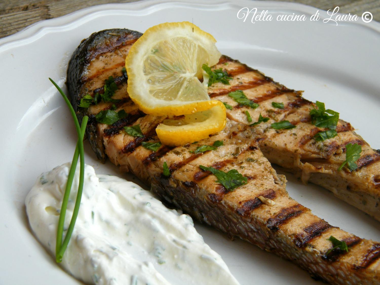 salmone al limone grigliato - nella cucina di laura