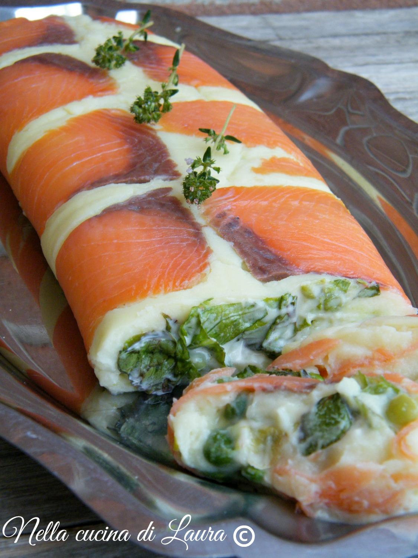 Rotolo di patate e salmone for Salmone ricette
