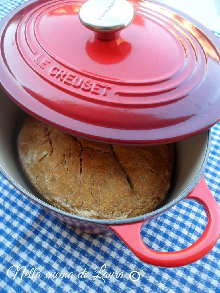 pane cotto in pentola - nella cucina di laura