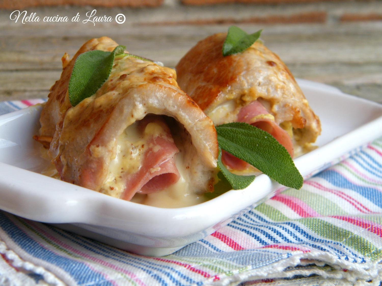 involtini di maiale con senape e Mortadella di Bologna - nella cucina di Laura