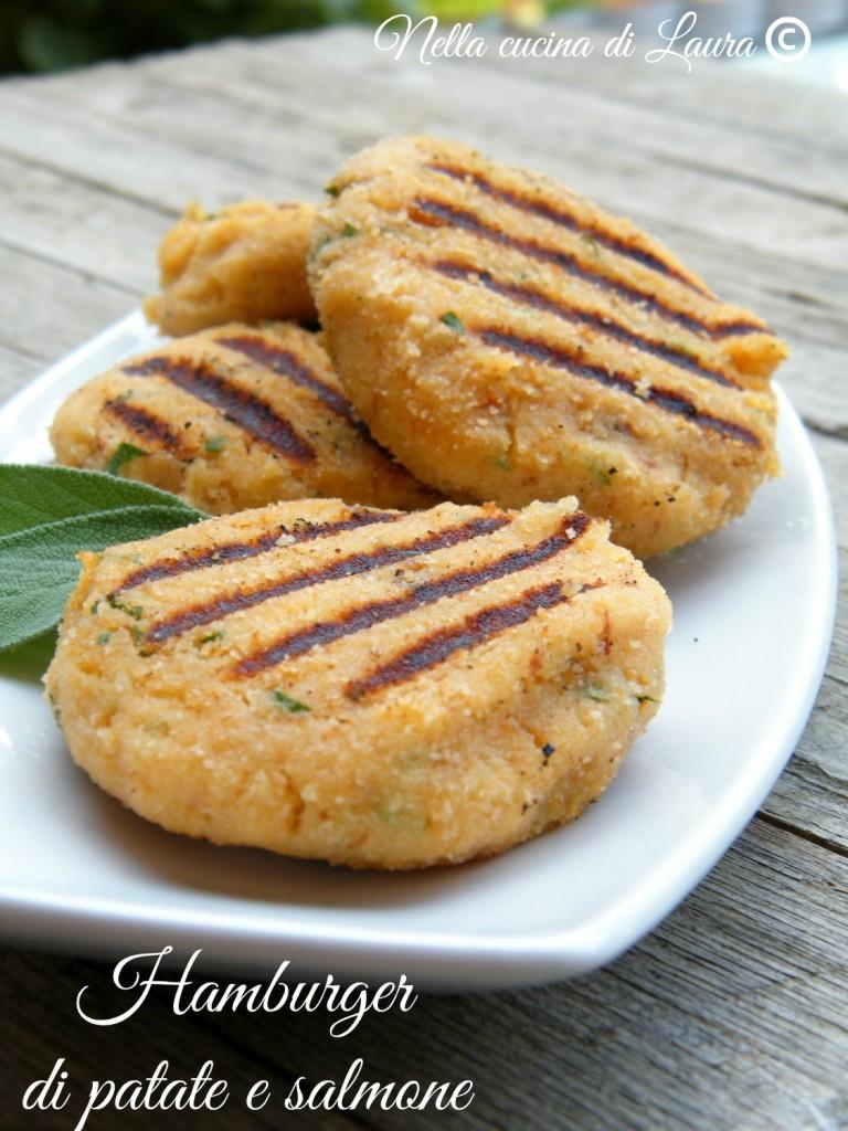 hamburger di patate e salmone - nella cucina di laura