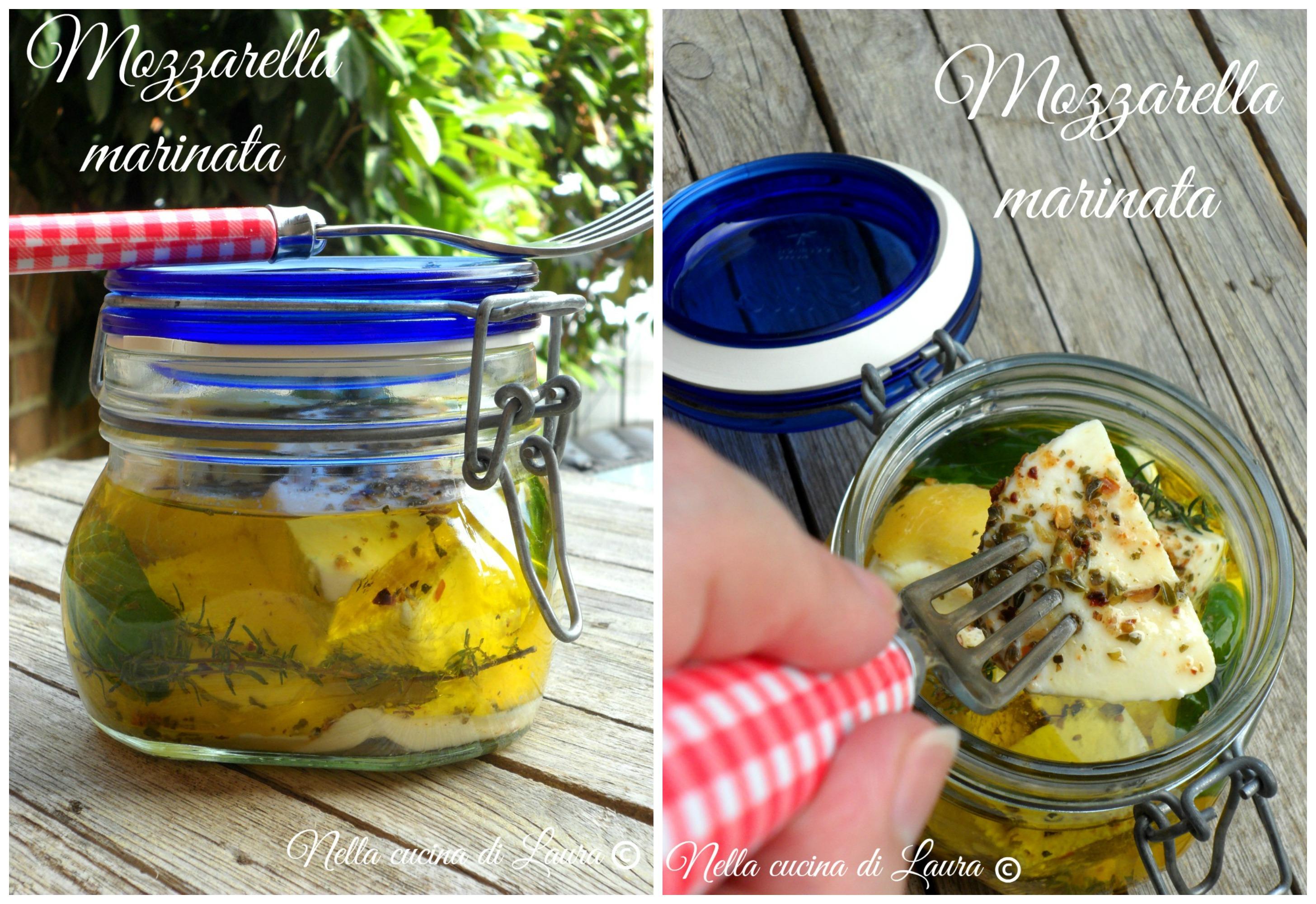 mozzarella marinata - nella cucina di laura