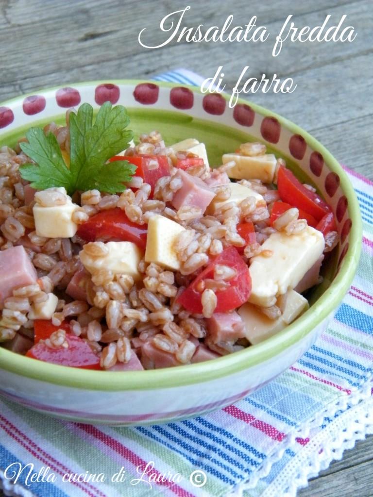 insalata fredda di farro - nella cucina di laura