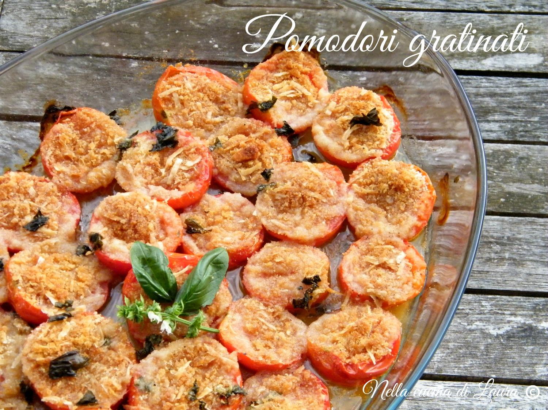 pomodori gratinati - nella cucina di laura