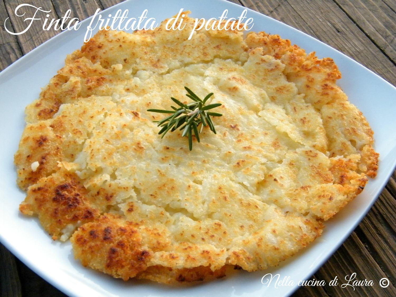 finta frittata di patate - nella cucina di laura