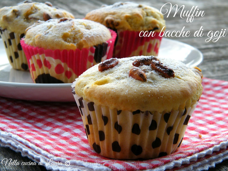 muffin con bacche di goji - nella cucina di laura