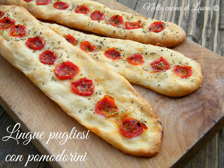 lingue pugliesi con pomodorini - nella cucina di laura