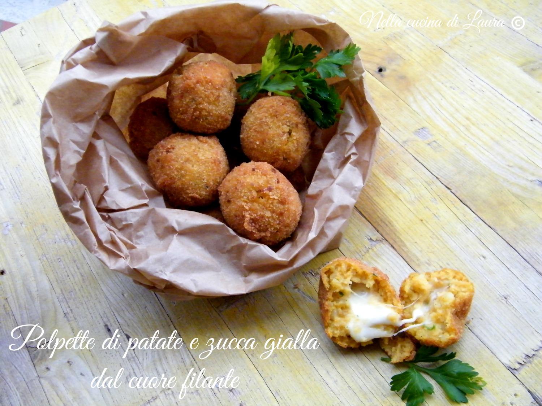 polpette di patate e zucca gialla dal cuore filante - nella cucina di laura