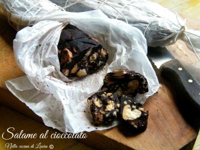 salame al cioccolato - nella cucina di laura