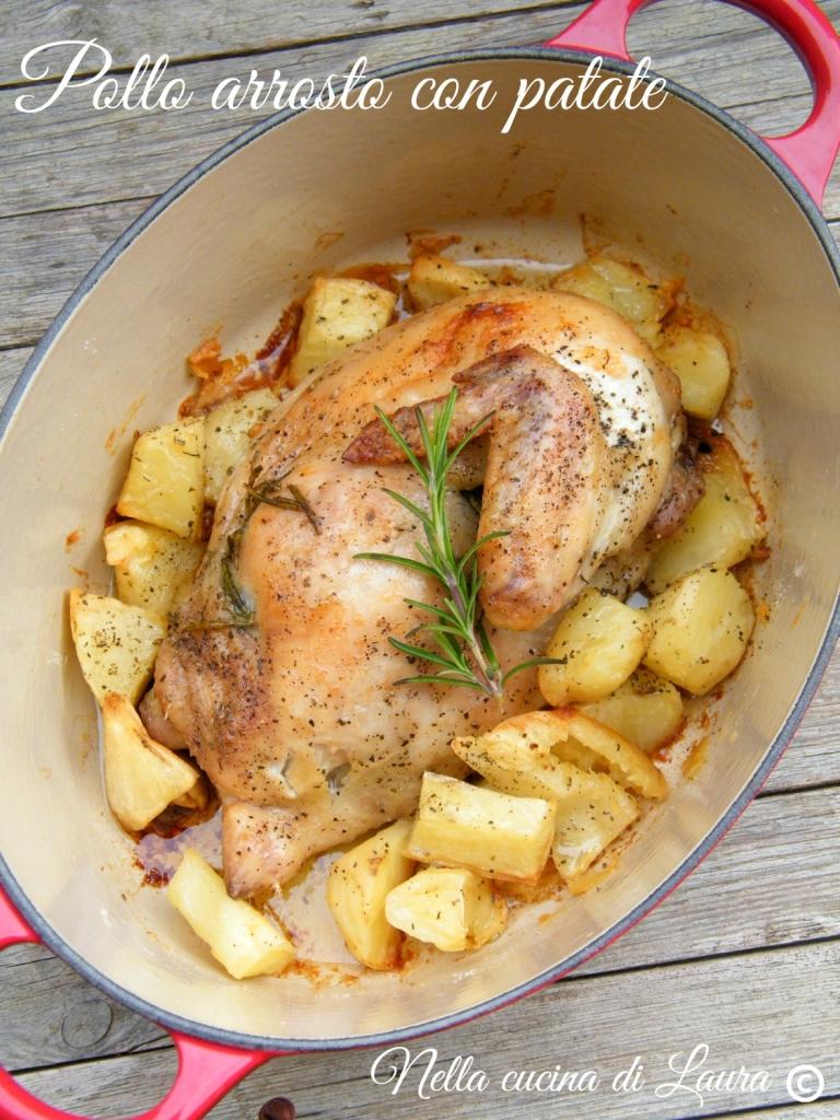 pollo arrosto con patate - nella cucina di laura