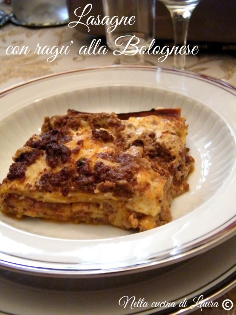 lasagne con ragu' alla Bolognese - nella cucina di laura