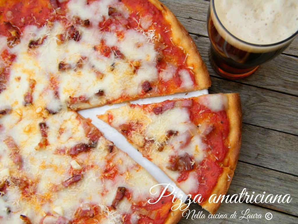 pizza amatriciana - nella cucina di laura