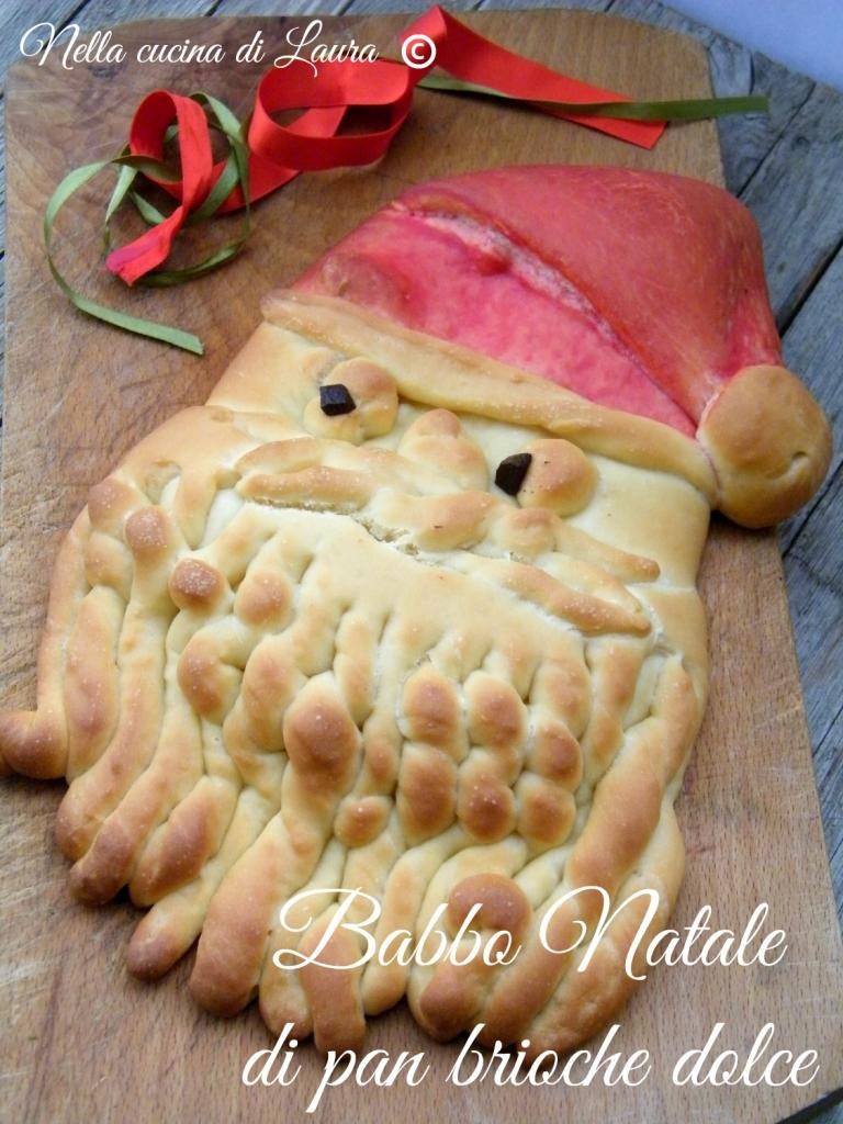 Babbo Natale di pan brioche dolce - nella cucina di laura