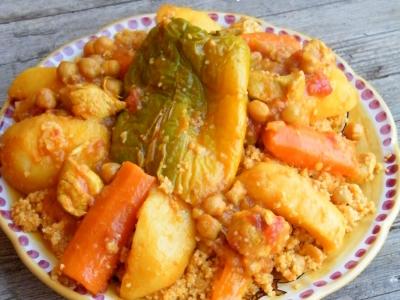 cous cous con pollo e verdure - nella cucina di Laura