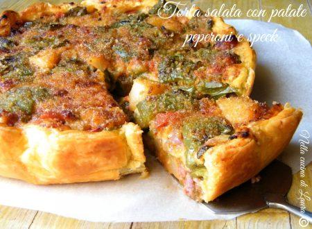 TORTA SALATA CON PATATE PEPERONI E SPECK