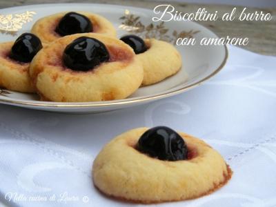 biscottini al burro con amarene - nella cucina di laura