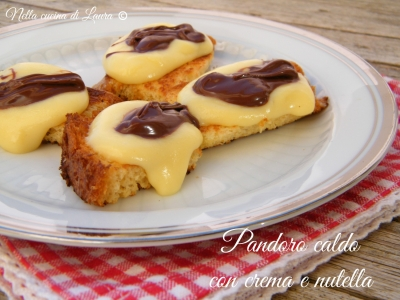 pandoro caldo con crema e nutella - nella cucina di laura