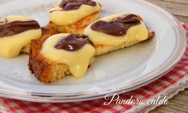 PANDORO CALDO CON CREMA E NUTELLA