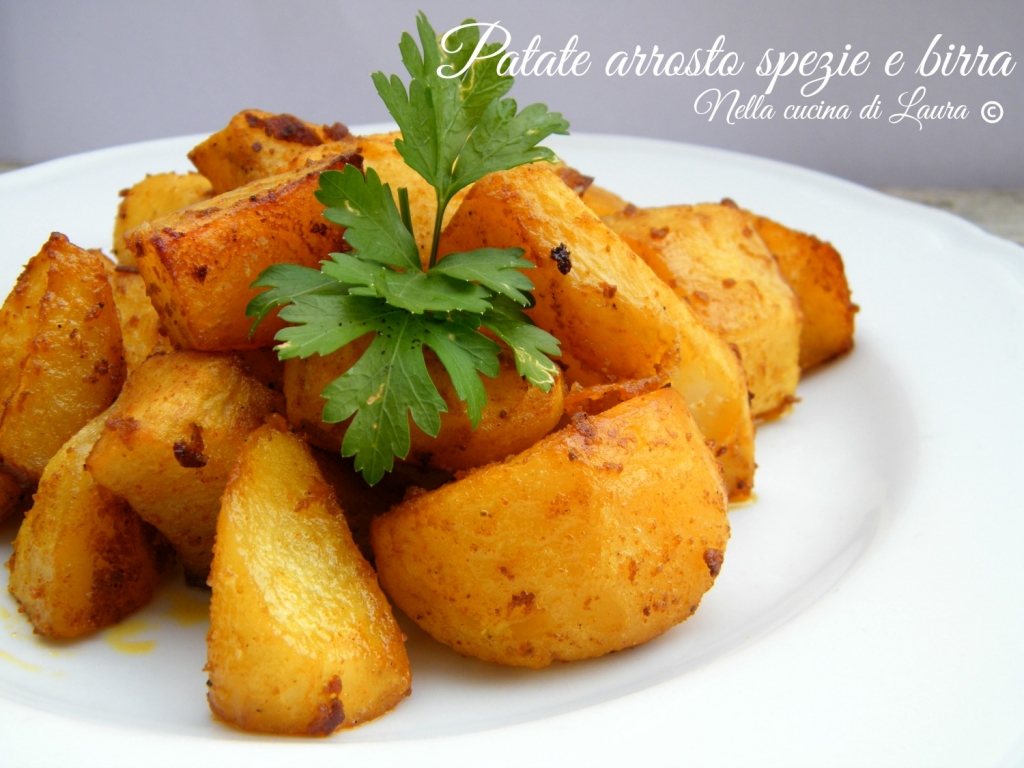 patate arrosto spezie e birra - nella cucina di laura