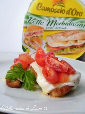 arista impanata con formaggio fuso e pomodorini - nella cucina di laura