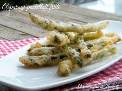 asparagi pastellati fritti - nella cucina di laura