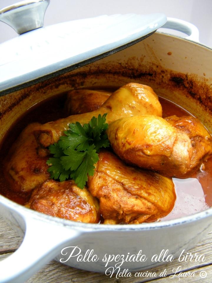 pollo speziato alla birra - nella cucina di laura