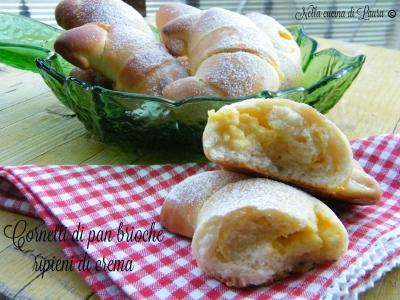 cornetti di pan brioche ripieni di crema - nella cucina di laura