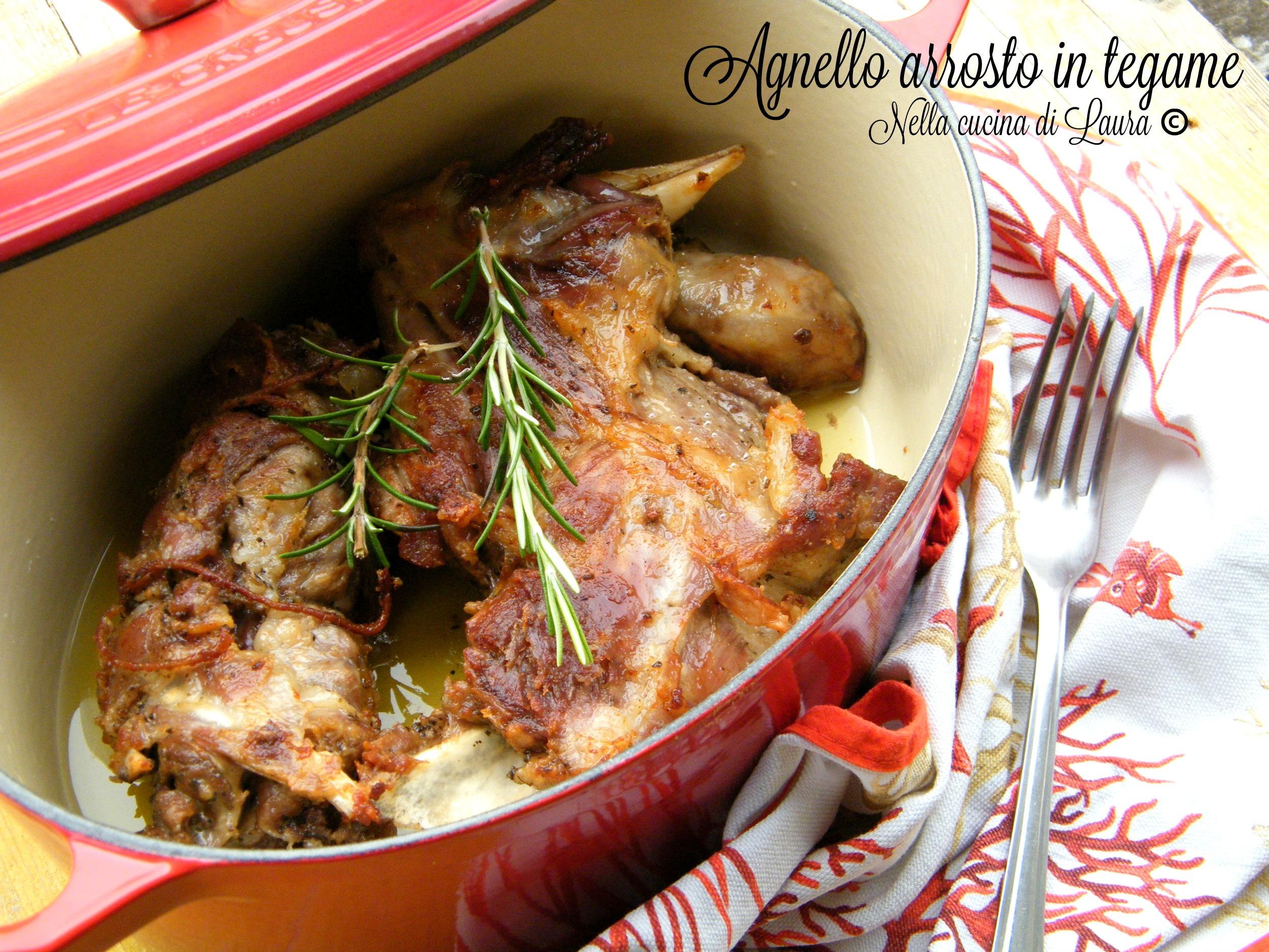 agnello arrosto in tegame - nella cucina di laura