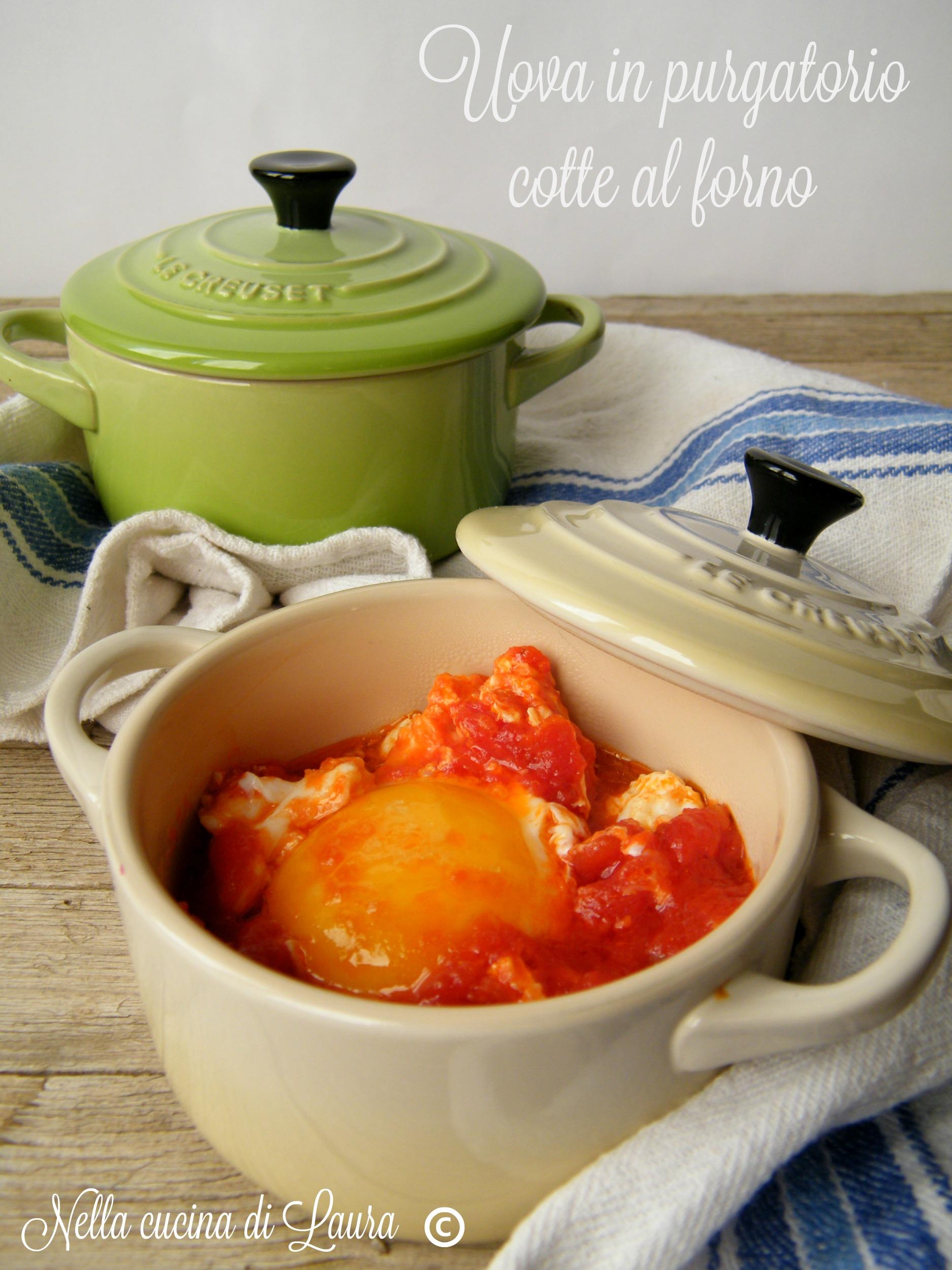uova in purgatorio cotte al forno - nella cucina di Laura