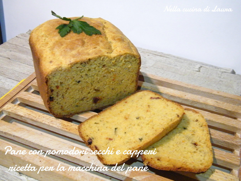 pane con pomodori secchi e capperi - ricetta per la macchina del pane