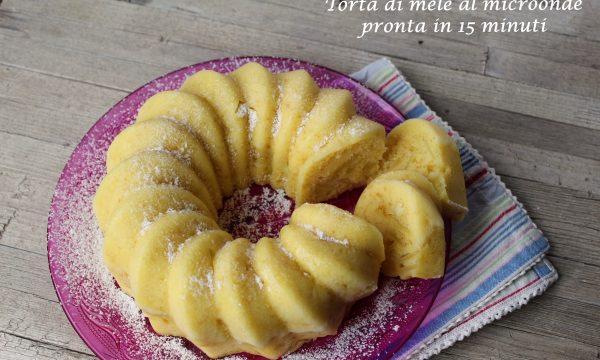 TORTA DI MELE AL MICROONDE – PRONTA IN 15 MINUTI