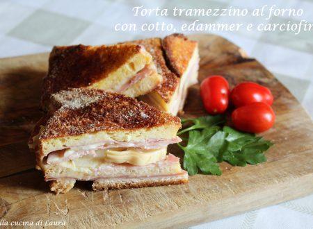 TORTA TRAMEZZINO AL FORNO CON COTTO EDAMER E CARCIOFINI