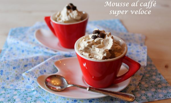 MOUSSE AL CAFFE' SUPER VELOCE – CON SOLI 3 INGREDIENTI