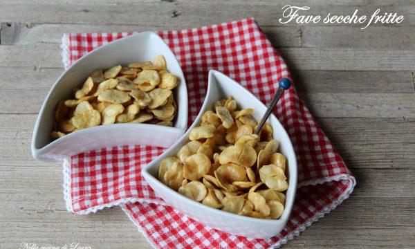 FAVE SECCHE FRITTE  – snack croccante e saporito – con VIDEO RICETTA