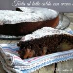TORTA AL LATTE CALDO CON CACAO E PERE