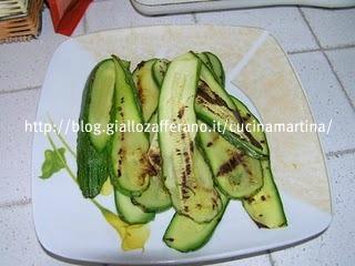 pasta con zucchine e melanzane alla piastra
