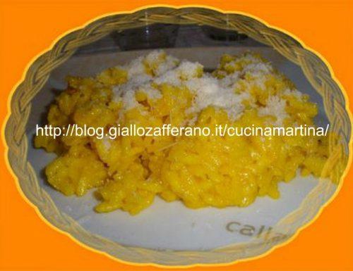 Risotto allo zafferano ricetta in microonde