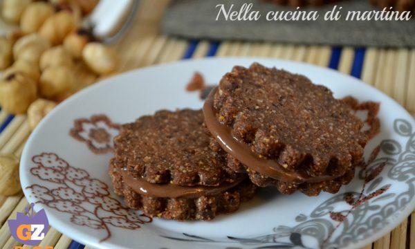 biscotti al cioccolato ripieni di nutella®