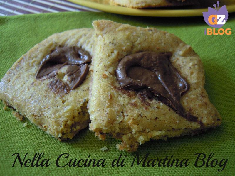 biscotti rustici alla nutella ricetta dolce nella cucina di martina blog