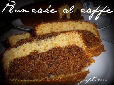 Plum cake variegato al caffè, ricetta dolce
