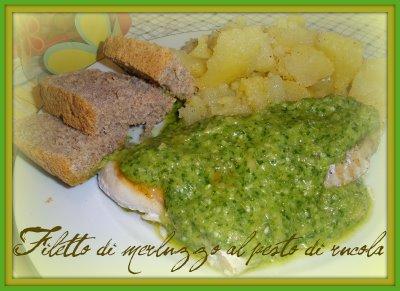 filetti di merluzzo al pesto di rucola - Cucinare Filetto Di Merluzzo