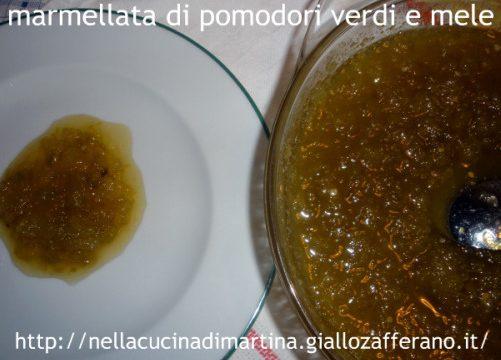Marmellata di pomodori verdi e mele